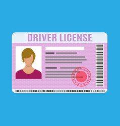 Car driver license identification card with photo vector