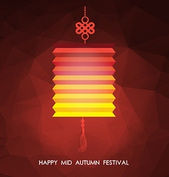 Chinese mid autumn festival polygonal background vector