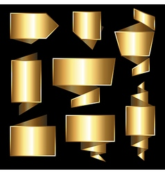 Collection of golden gradient tegs vector image vector image