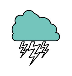Color cloud with ray icon vector