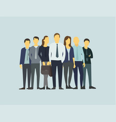 company business group people of office clerks vector image vector image
