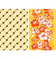 hawaiian floral background vector image