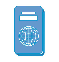 isolated travel passport vector image