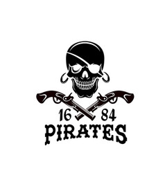 Jolly roger pirate skull piracy flag icon vector