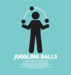 Juggling balls symbol vector