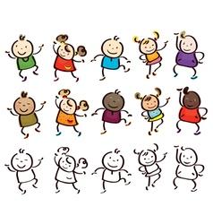 kids race vector image