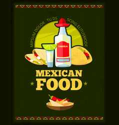 mexican restaurant menu design vector image