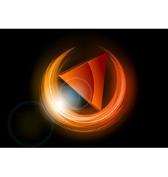 neon dark round red vector image vector image