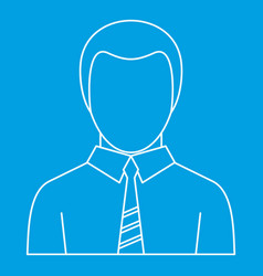 Office man avatar icon outline style vector
