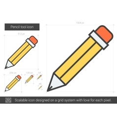 Pencil tool line icon vector