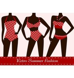 polka dotted bikinis vector image