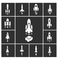 Rocket set vector