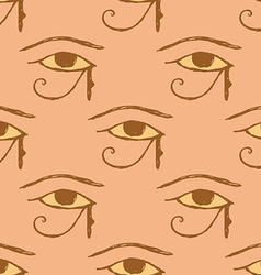 Sketch osiris eye in vintage style vector