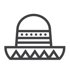 Sombrero mexican hat line icon travel and tourism vector