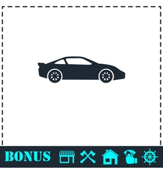 Sport car icon flat vector