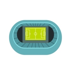 Stadium top view icon flat style vector image vector image