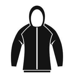 Sweatshirt icon simple style vector