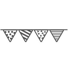 Garlands party celebration icon vector