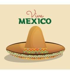 hat mexican beige color design vector image
