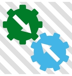 Gear integration icon vector