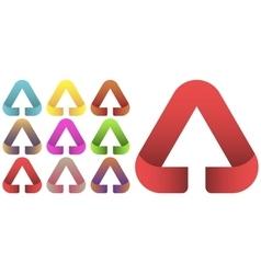 Arrow logo set vector image