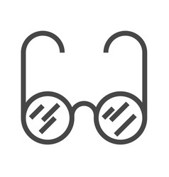Glasses thin line icon vector