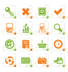 Stylized internet and web site icons vector