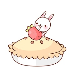 A view of one pie vector image