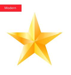 golden star  high quality 3d star symbol vector image