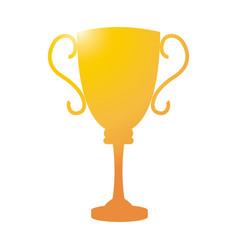 golden trophy sport award winner competition vector image