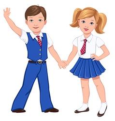 school boy girl vector image