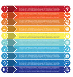 strip infographics 10 vector image