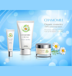 cosmetics products realistic advertisement poster vector image