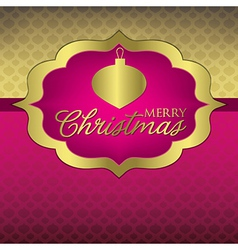 Elegant label christmas card in format vector