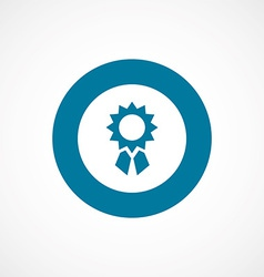 Achievement bold blue border circle icon vector