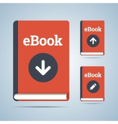 Ebook in download upload and edit modifications vector