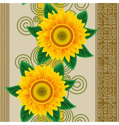 seamless sunflowers vector image