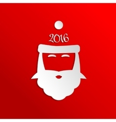 Paper santa claus  icon vector
