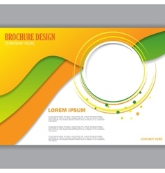 Background concept for horizontal brochure vector