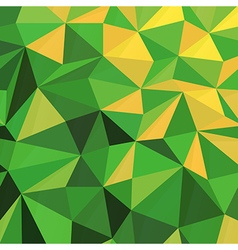 Triangular Low Poly Green Pattern vector image