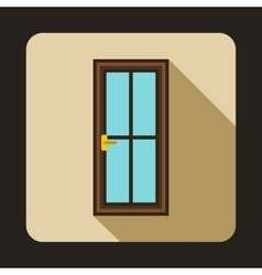 Glass door icon in flat style vector