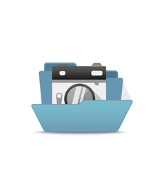 Computer interface folder open folder isola vector