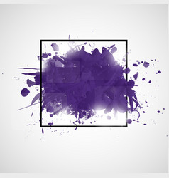 abstract background with violet paint splashes vector image