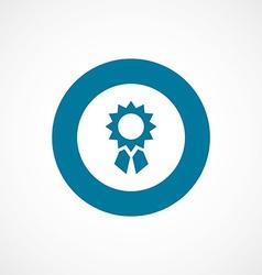 achievement bold blue border circle icon vector image