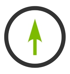 Arrow axis y flat eco green and gray colors vector