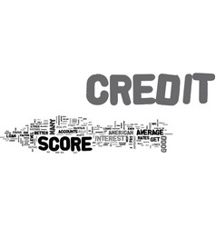 Average american credit score see if you are vector