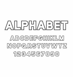 Black of font and alphabet vector