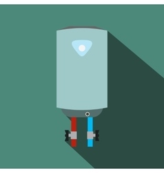 Boiler flat icon with shadow vector