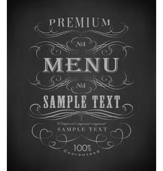 Chalk typography calligraphic design elements vector
