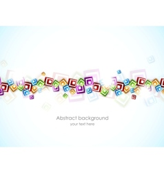Colorful background with squares vector image vector image